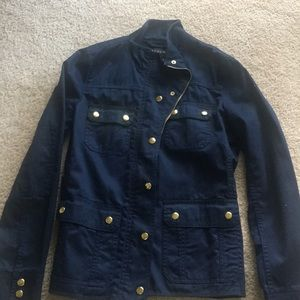 JCREW Navy Jacker with gold hardware worn once!